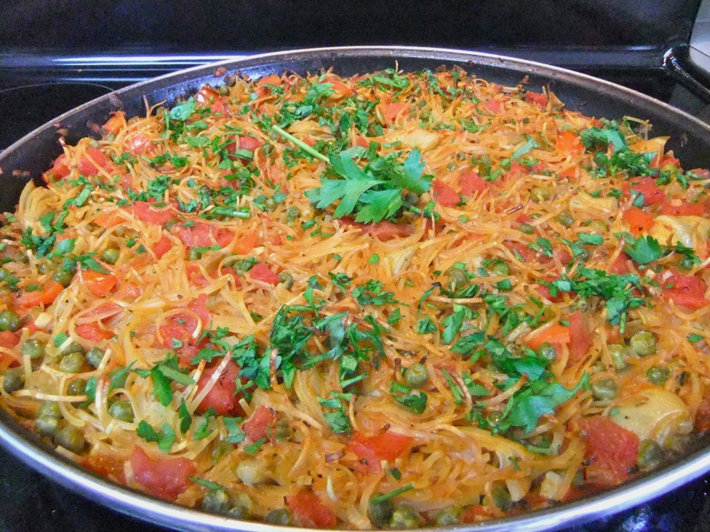 "Vegan ""Fideua"" – Spanish Noodle ""Paella"""