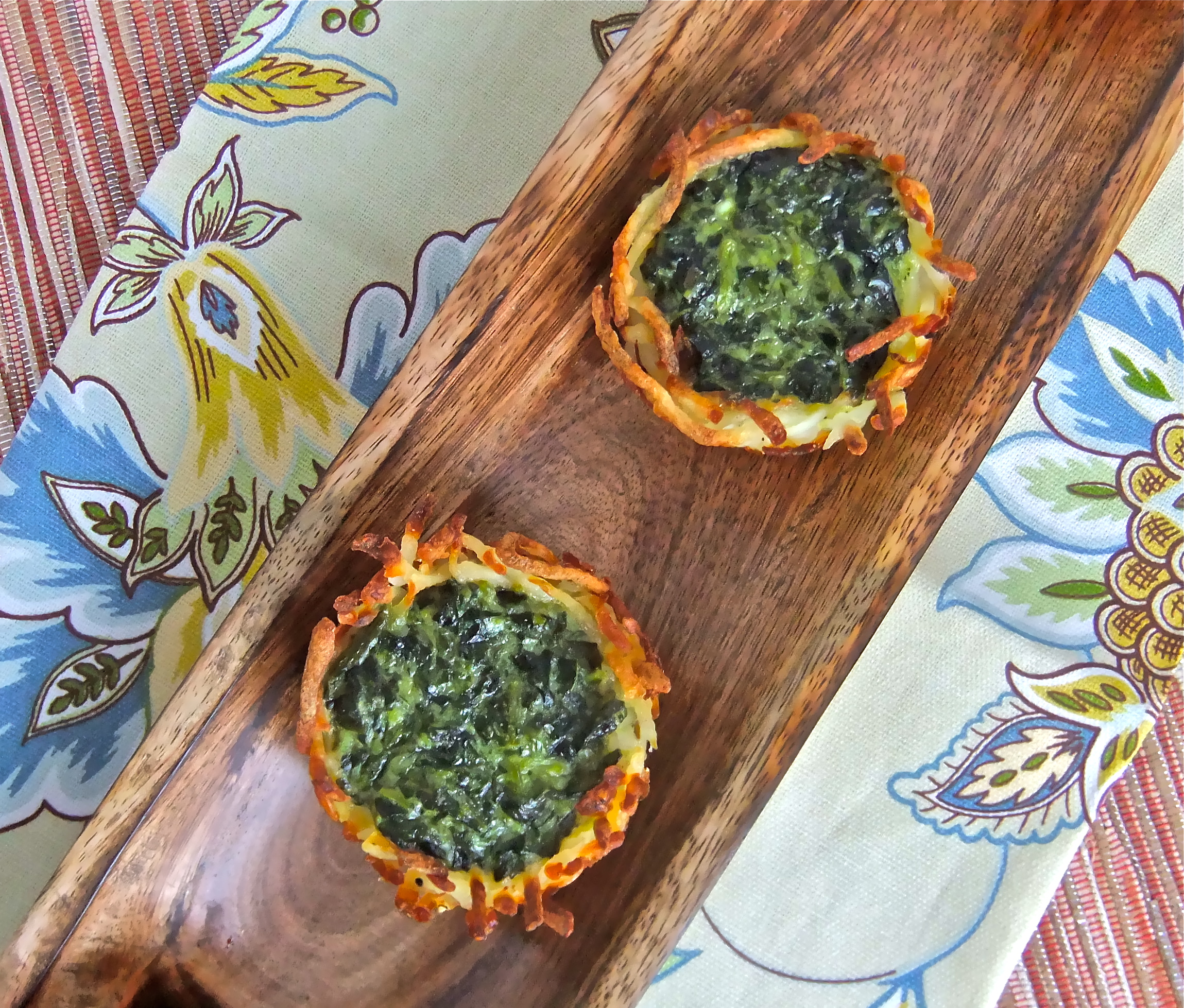 not-just-for-passover spinach potato nest bites