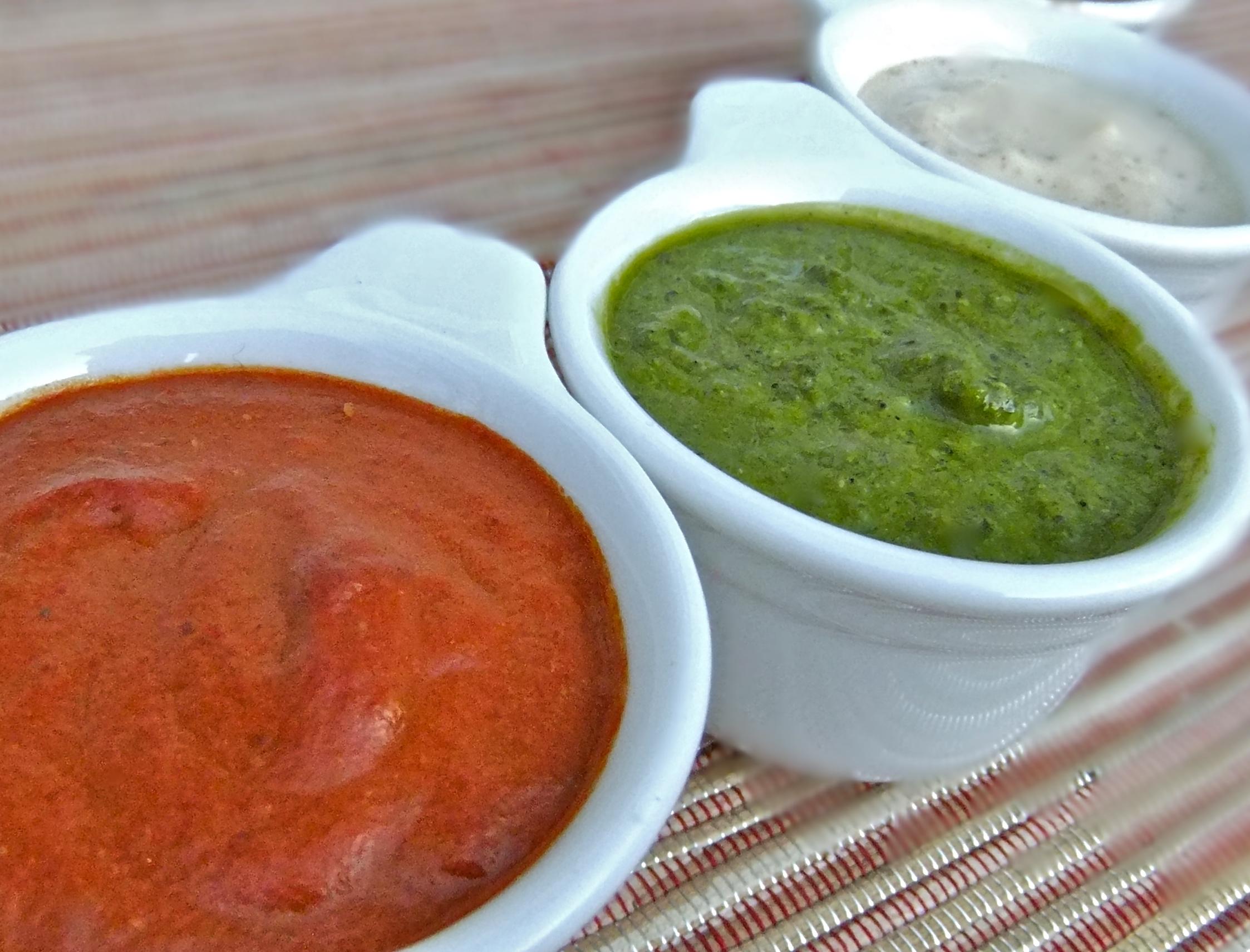 Basil Salad Dressing & Roasted Pepper Salad Dressing