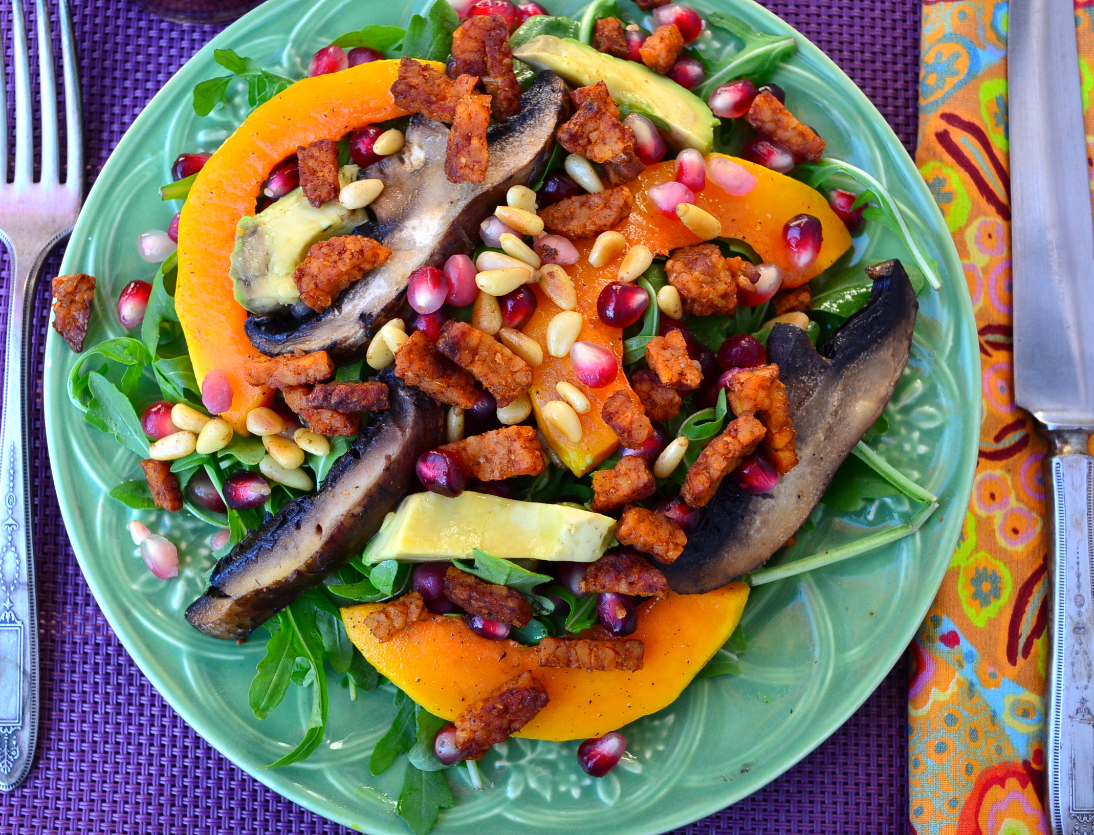 Ideas For A Vegan Thanksgiving Part 5 Winter Squash Salad With All Veggie Vegetarian I Love This Because It Really Has Little Bit Of Everything Beautiful Colors From The Different Vegetables Contrast In Textures Crunch