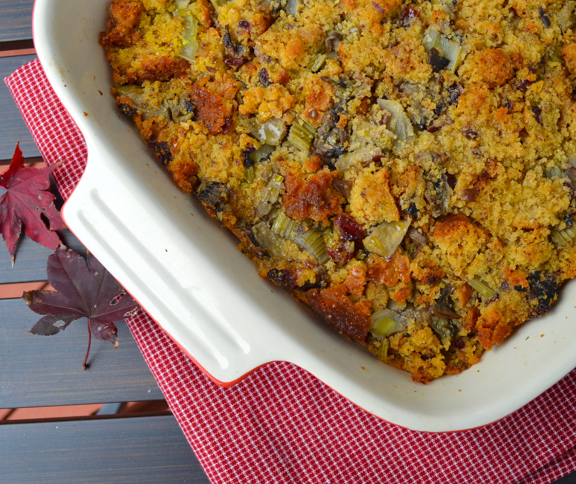 Vegan corn bread stuffing