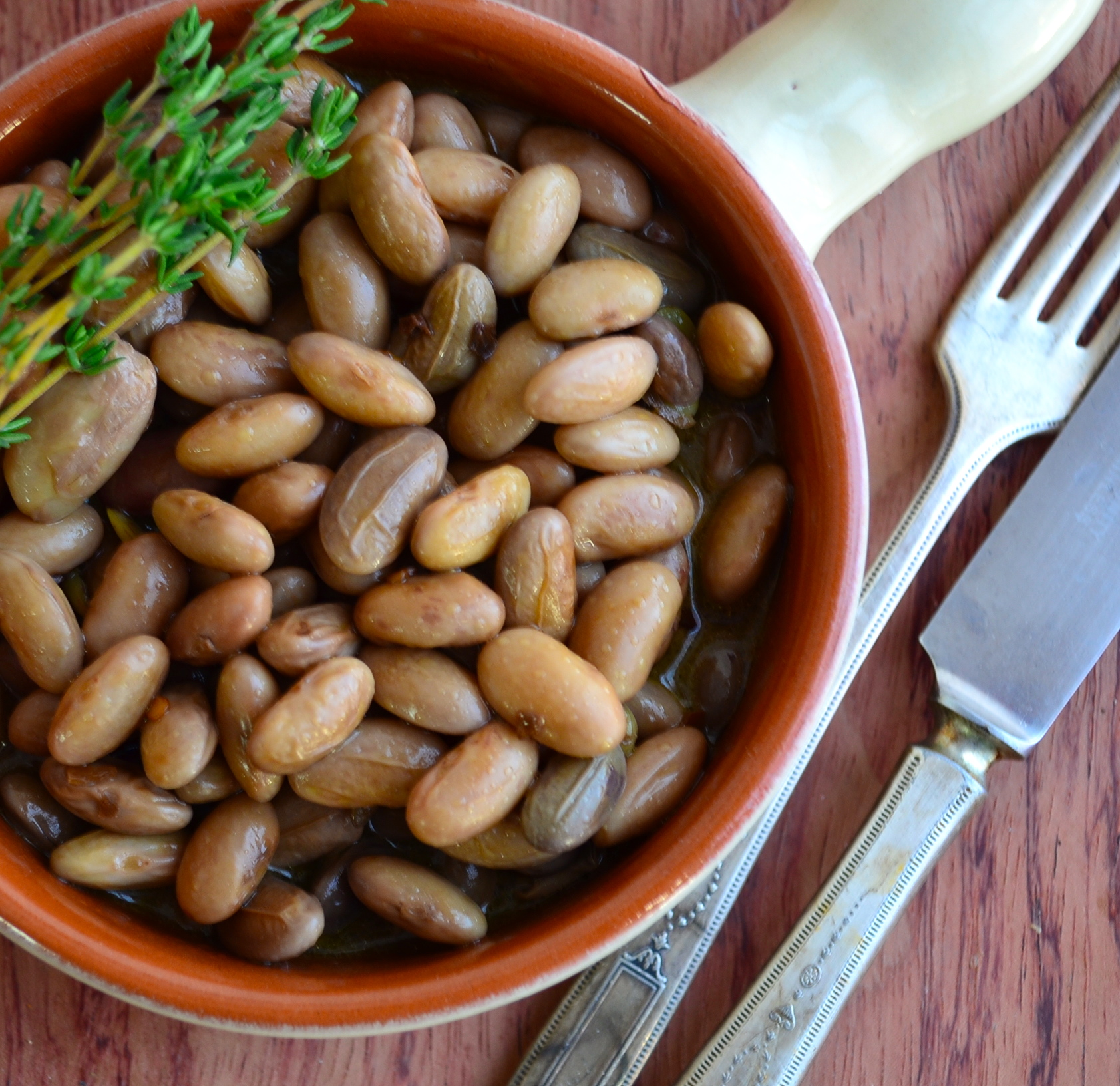 meatless monday fresh cranberry beans with olive oil. Black Bedroom Furniture Sets. Home Design Ideas