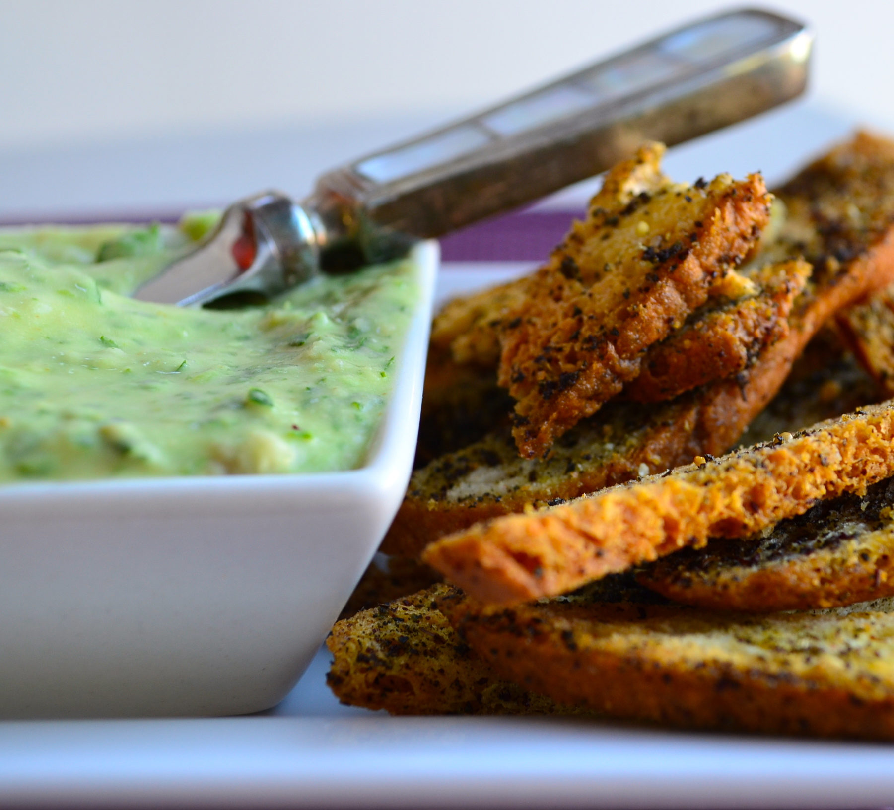 gluten free bagel chips with white bean dip
